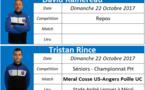 Où sont nos arbitres : Week-end des 21 et 22 Octobre 2017