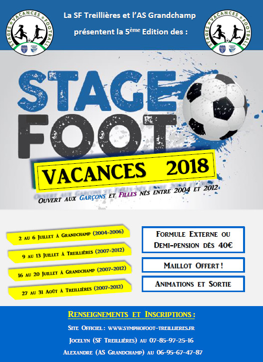 Stages Vacances Football : Inscriptions Closes pour la toussaint !