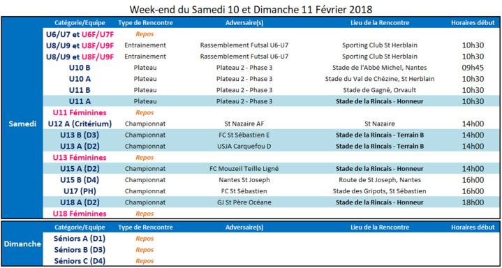 Agenda des 10 et 11 Février 2018