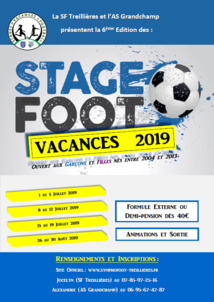 Stages Vacances 2019 : Ils reviennent !!