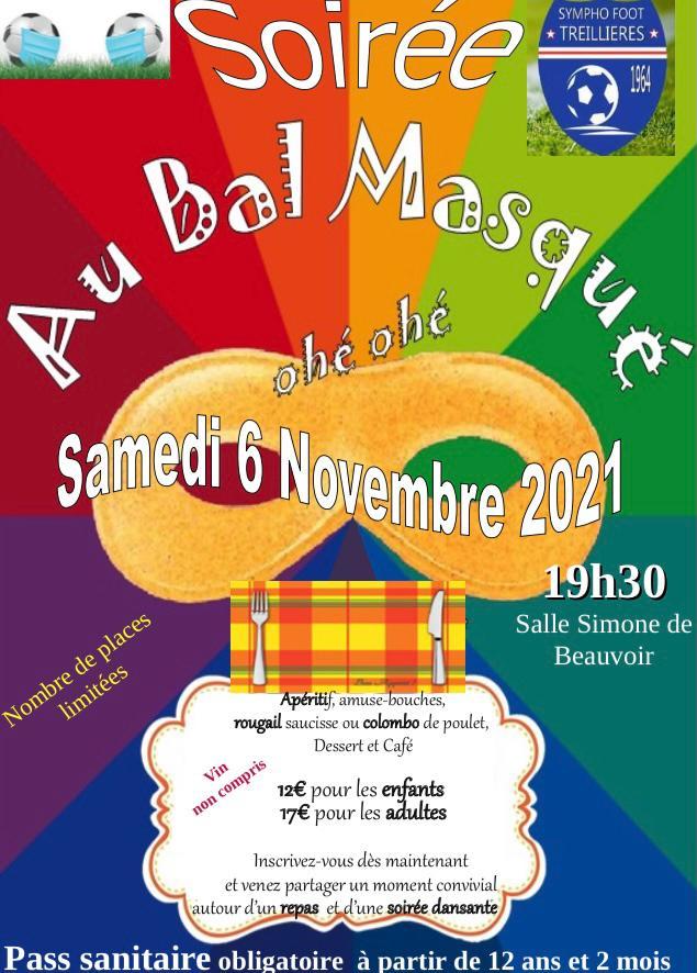 "Soirée ""Au bal masqué"" Samedi 6 Novembre !"