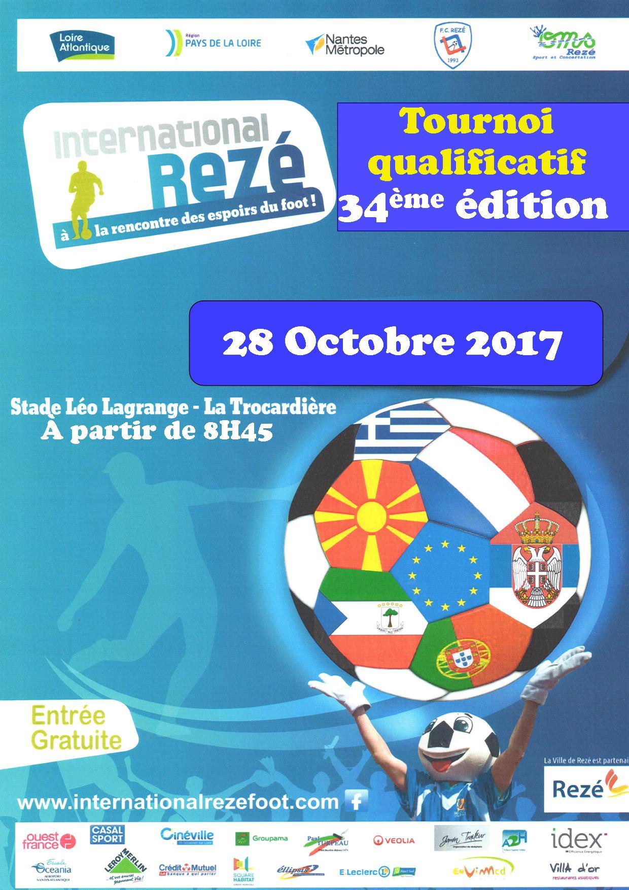 L'International Rezé pour nos U16 ce 28 octobre !