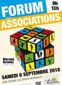 Forum des associations : Samedi 08 Septembre de 09h00 à 13h00