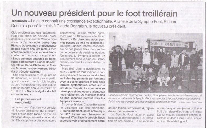 Article Ouest-France - 29 Novembre 2018