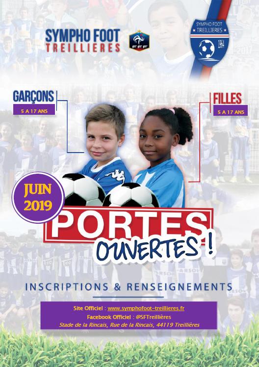 """Portes Ouvertes 2019 : La SF Treillières proposent des séances """"Portes Ouvertes"""" !"""