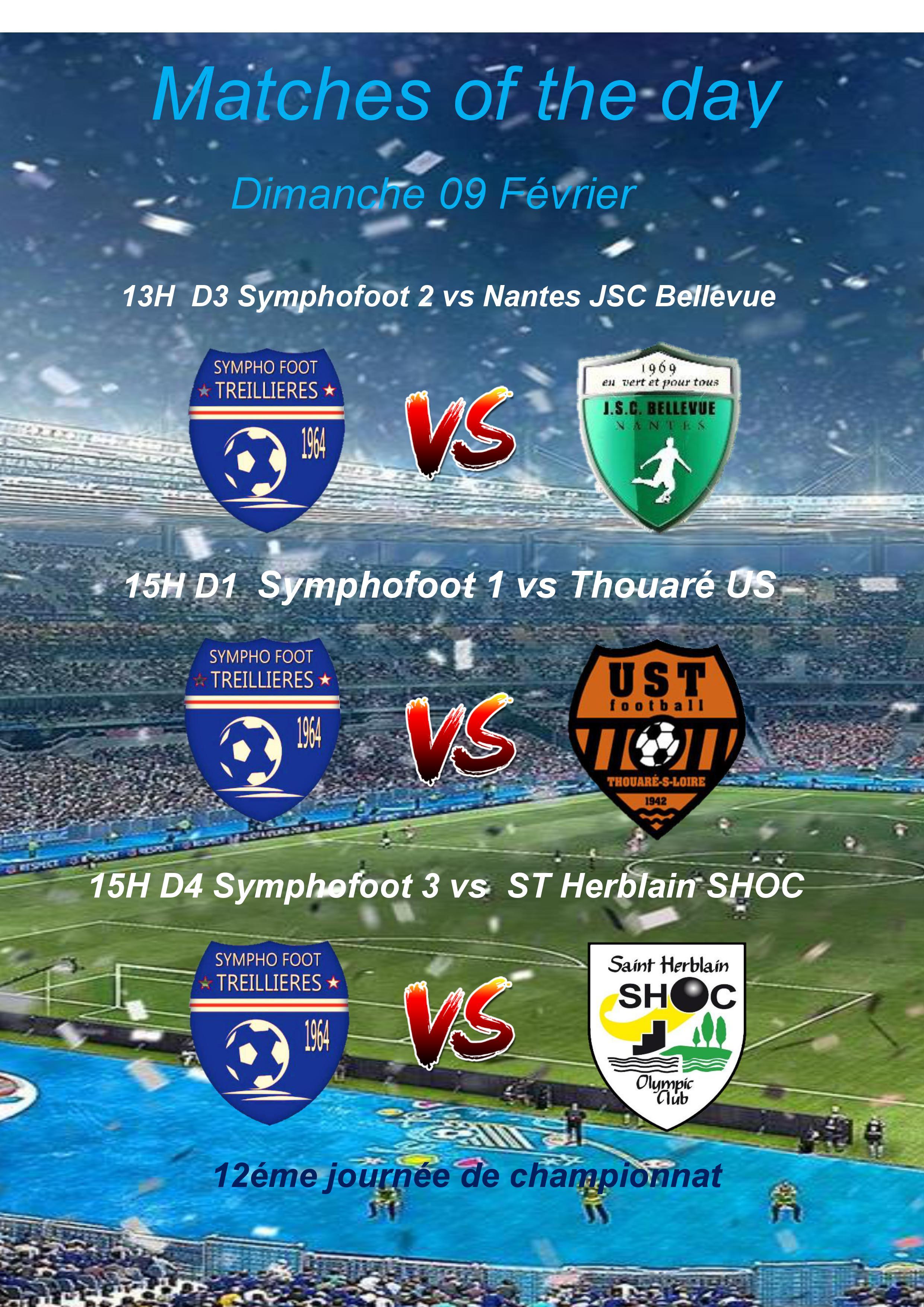Matchs seniors du 09 Février 2020