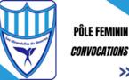 Convocations Pôle Féminin (U10 à U18)