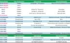 Agenda du 30 Septembre et 01 Octobre 2017