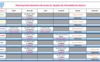 Planning des entraînements de toutes les catégories Féminines 2021-2022