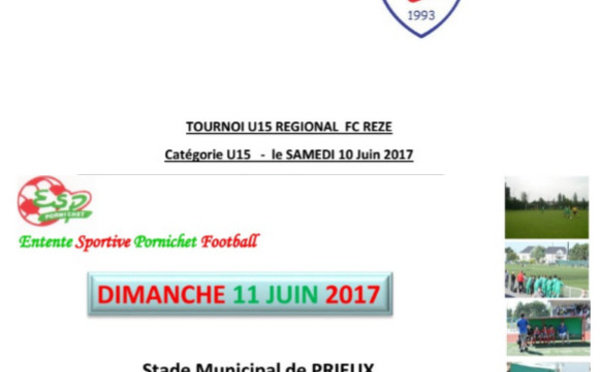 10-11 juin: Les U14 et U15 en tournoi Foot à 11!