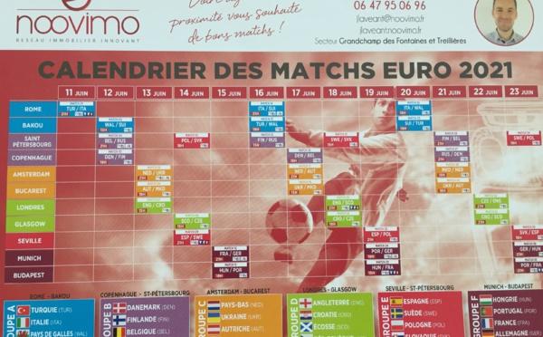 Votre Agent immobilier NOOVIMO vous souhaite de bons matchs Euro 2021!